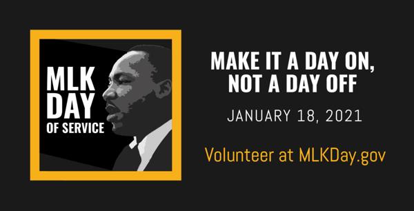 MLK Day graphic black