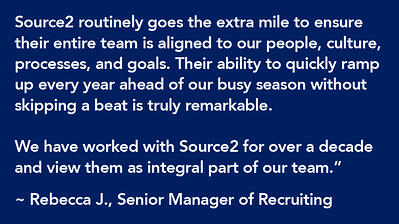Source2 is an integral part of our time (client quote)
